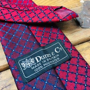Dunn & Co. Britain Mens Red Pattern Tie